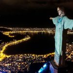 The Christ the Redeemer from Rio dresses as a doctor to honor them